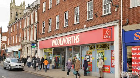 Everyone used to cut through the Woolworths store in Dereham market place. Picture: Archant