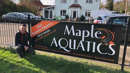 """Maple Aquatics owner Chris High says the """"new town"""" is away from Dereham's traditional town centre."""
