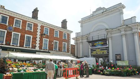Dereham town centre pictured in 2014. Picture: Archant
