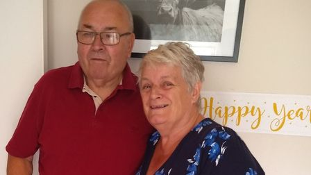 David Wheeler with his wife Jean. Picture: Andrew Brasier