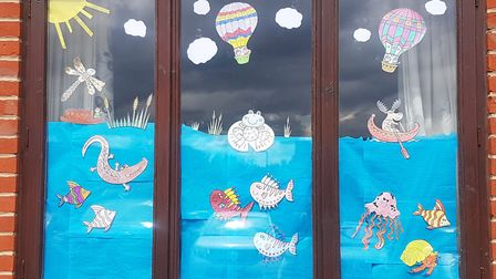 The Maltings carehome's window display Picture: Michelle Emmerson