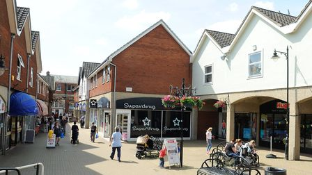 The shopping precinct in Dereham town centre. Picture: Archant