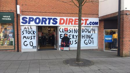 Sports Direct on Wright's Walk, Dereham, closed in 2019. Picture: Archant