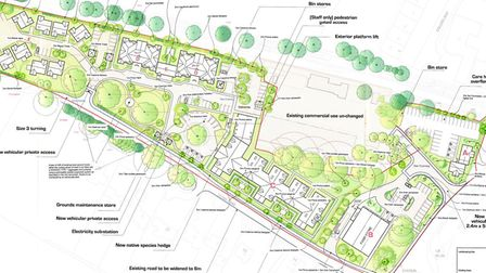 Plans for the care village including care home and foodstore. Picture: CAM Architects/ Broadland cou