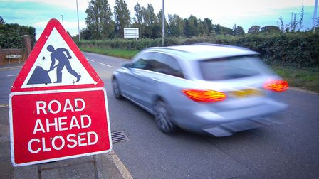 Roadworks on the A149 at Hunstanton Picture: Chris Bishop