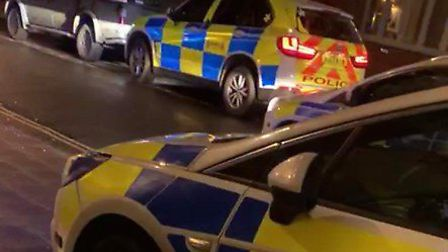 Police attended the scene of a fight outside the Wetherspoon pub in Dereham. Picture: Submitted