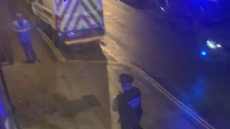 Police outside the Wetherspoon pub in Dereham. Picture: Submitted