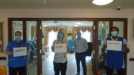 Dorrington House in Wells celebrated its 12th birthday and staying coronavirus free. Picture: Dorrin