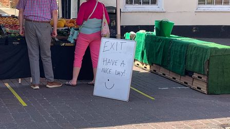 Traders at the Fakenham Thursday market were responsible for introducing their own systems for safe