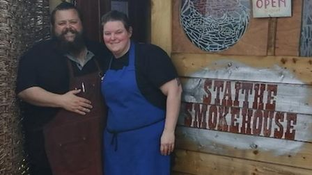 Phil Hartshorne and wife Fran at the Staithe Smokehouse. Picture: Phil Hartshorne