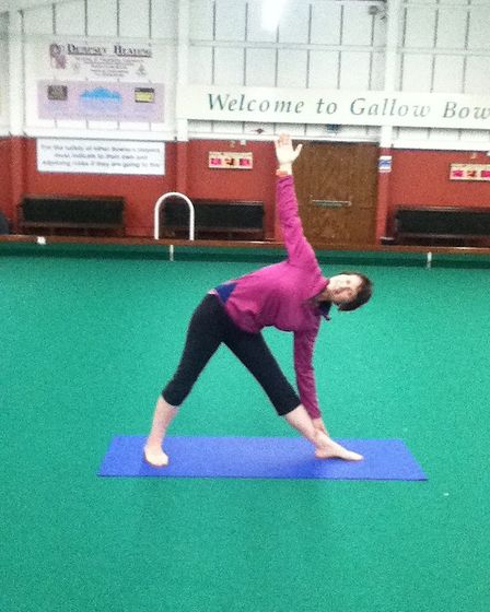 Cecile Pons is offering online yoga classes over Zoom for everyone, regardless of experience. Pictur