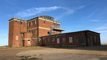 Windows were smashed in the control tower at the former RAF Sculthorpe site. Pictures: Google Maps