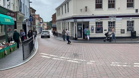 People out in Fakenham as lockdown eases. Picture: Aaron McMillan
