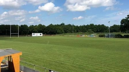 Fakenham rugby club is turning into a beer garden for 'Super Saturday'. Picture: Thomas Bane-Young