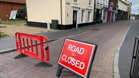 Norwich Street in Fakenham is open again after being as part of North Norfolk District Councils You