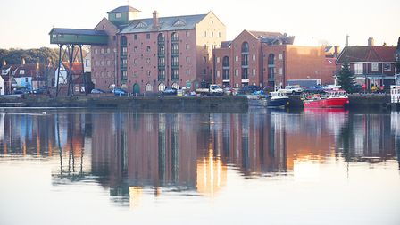 Wells quay bathed in afternoon sunshine. Picture: Ian Burt