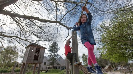 They are controlling the number of children on the outdoor play areas at Pensthorpe Natural Park. Ph