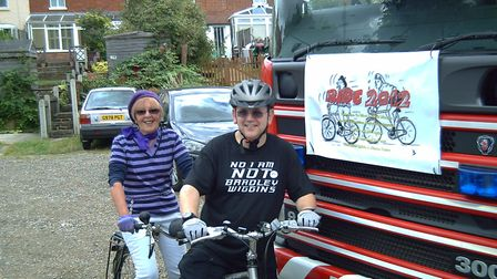 Mayor Janet Holdom and deputy Mayor Adrian Vertigan pictured in 2012 joining in the parade at Fakenh