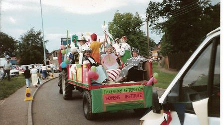 The Fakenham carnival parade in the early 1990s