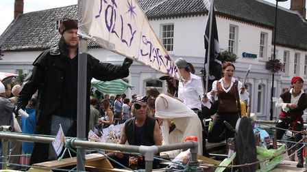One of the floats at Fakenham carnival after it was relaunched by Kick Start Fakenham and the Town C