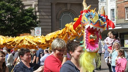 The Fakenham carnival changed its format after its relaunch, including becoming a walking parade. Pi