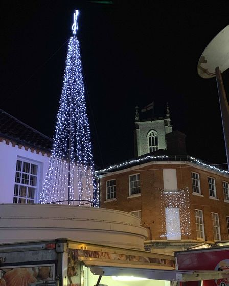 Christmas Fayre 2019 saw the lights switched on in Fakenham. Picture: Aaron McMillan