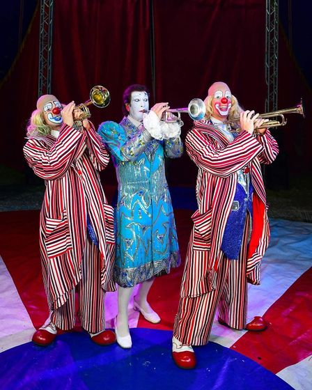 The Rivelino Clowns from Uncle Sam's Great American Circus, which is coming to Dereham. Picture: And