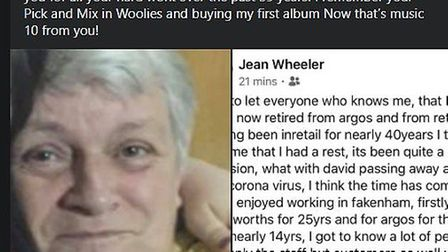 Jean Wheeler said that as tributes started to appear on the town's Facebook group, she did not reali