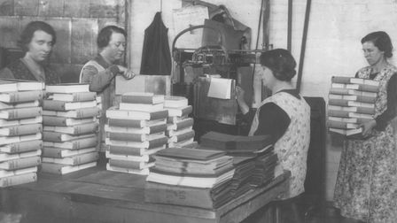 Women book binders at work c12003 pic to be used in the edp dml 11th march 2009Info given by