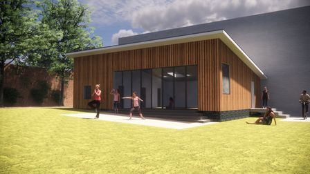 An artist's impression on what the large, independently accessed garden room might look like. Pictur