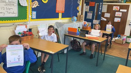 Astley Primary School social distancing classrooms to keep their children safe while they offer face