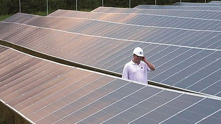 A solar farm similar to the one being proposed at Ellough..