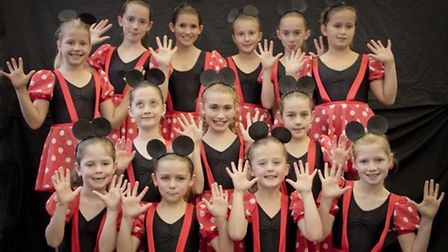 Performers from the Funky Feet School of Dance.