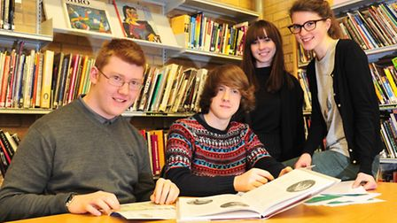 Students from the Sir John Leman School are taking part in a research history project with the UEA a