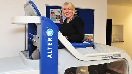 Alice Denham, who suffered a stroke, and has used the Anti-Gravity machine to help her recover.