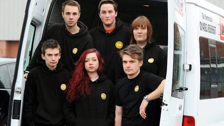 CRASH DRAMA: Among the students praised for their efforts to help the victims of the A47 crash were