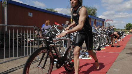 Action from last year's first Beccles Triathlon.