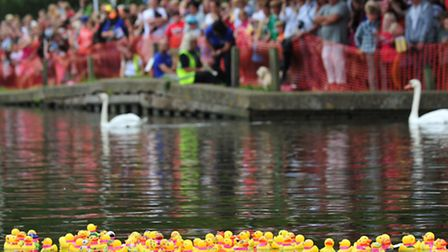 Action from a previous Beccles Duck Race