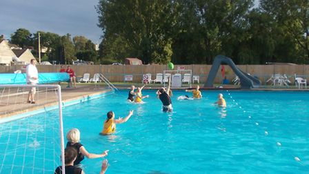 The water rugby match between Beccles and Petit-Couronne.