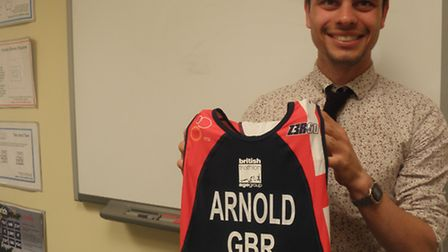 Piers Arnold, of Bungay High School, has represented GB in the amateur duathlon world championships.