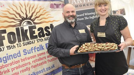 Tim and Gill Matthews are one of the food sponsors of FolkEast, which was launched on Thursday, 5 Ju