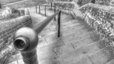 This monochrome print taken by a Waveney Camera Club member gives a super view of an ancient stairwa