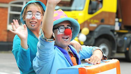 Beccles carnival parade in full swing.Picture: James Bass