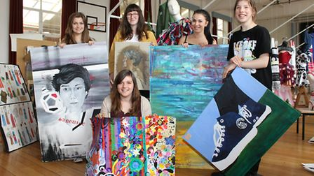 A-level art students from Bungay Sixth Form Centre have put on a display of their work. Pictured in
