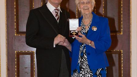 Rosmund Parker (right) with her Order of Mercy