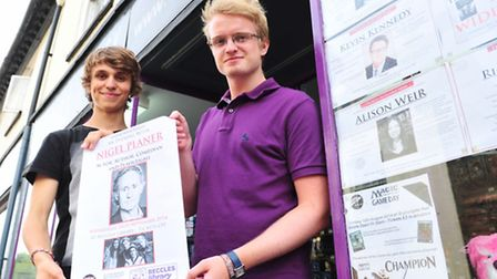 Eddie Graver (near) and Ollie Sayer from Kulture Shock, Beccles have managed to secure a number of h