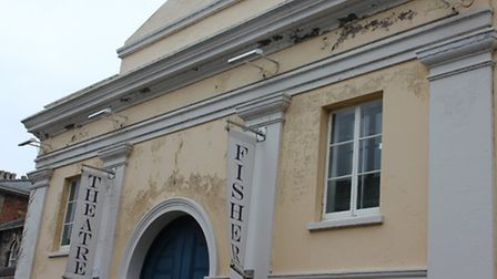 The facade of Bungay's Fisher Theatre which is in need of renovation.