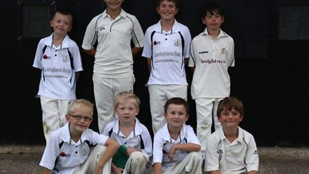 Topcroft youngsters. Back row, from left - Jayden Collins, Cisse Waters, Sam Emms, Will Colman. Fron