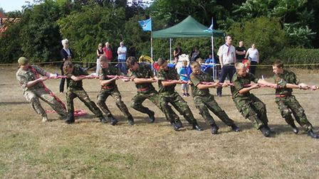 The tug of war competition at last year's Worlingham village fete
