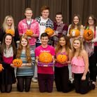 Bungay Sixth Form students who raised funds for Breast Cancer Awareness with a pumpkin carving compe